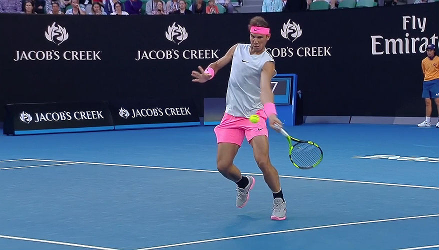 Rafael Nadal of Spain at 2018 Australian Open