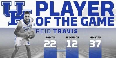 Reid Travis of the Kentucky Wildcats