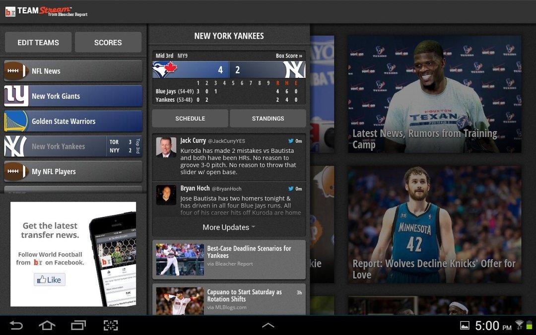 Team Stream: My Favourite Sports App