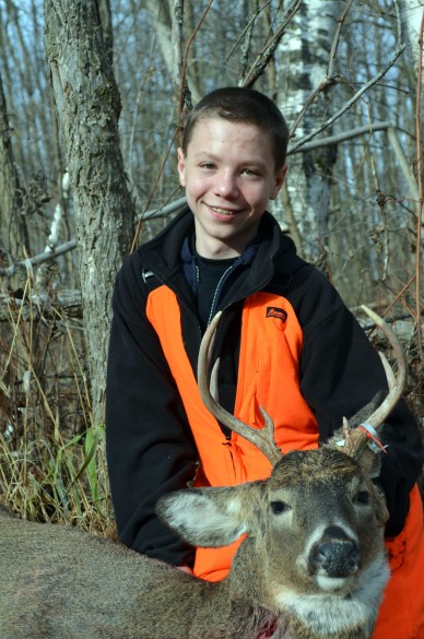 Dalton Amundson with his first deer!