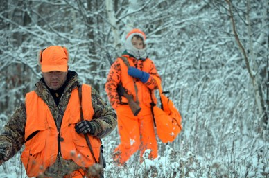 Wade and Danny Amundson on a recent cold weather deer hunt