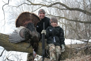 6 year old Gus Elbert and his ND turkey!  With Jeremy Elbert from Wildlife Pursuit TV.