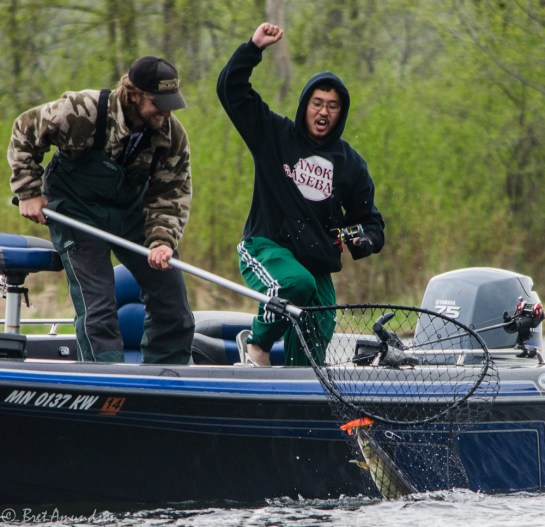 Not everyone was crappie fishing.  This muskie fisherman was pumped!