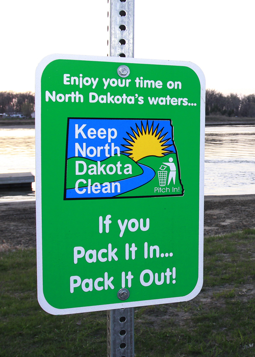 Keep ND Clean sign