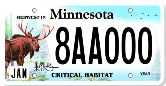 The DNR unveiled a new critical habitat license plate