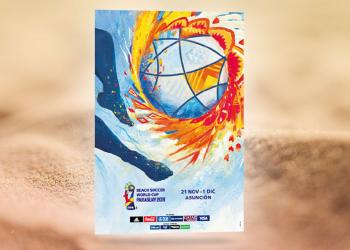 Official poster of the FIFA Beach Soccer World Cup Paraguay 2019 revealed