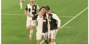 Video: Ronaldo, Dybala's kiss during goal celebrations goes viral