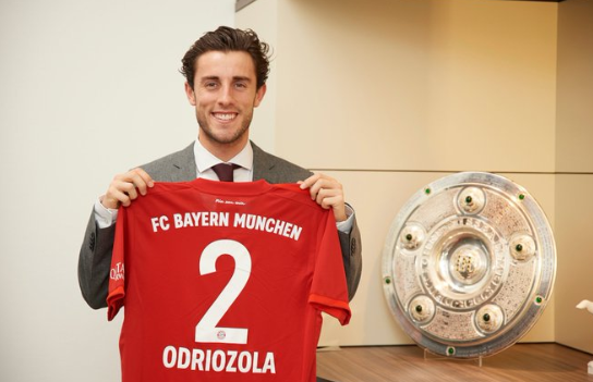 Bayern Munich land Real Madrid defender Alvaro Odriozola on loan