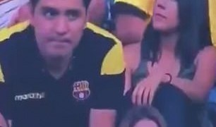 Football fan caught kissing on camera explodes we all cheat!