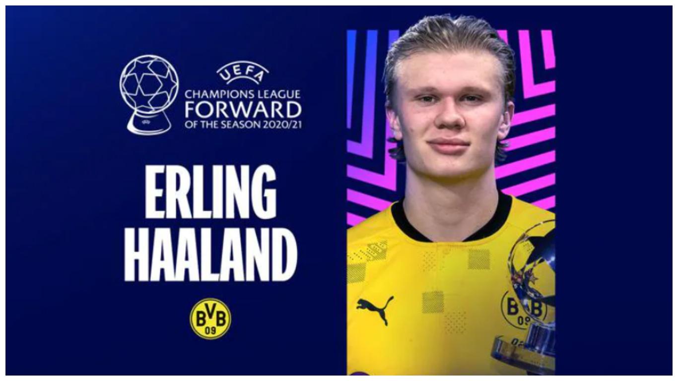 Dortmund ace emerges Champions League Forward of the Season