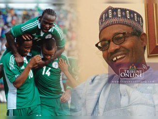 5880560dd Buhari hails Super Eagles victory over Cameroon