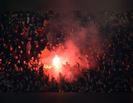 Basel charged by UEFA over Old Trafford fireworks