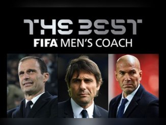 The three candidates for FIFA's 'The Best' men's coach award