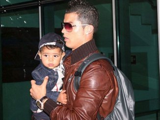 Cristiano Ronaldo with his baby