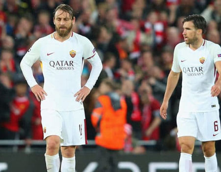 Liverpool slammed over tactics by De Rossi
