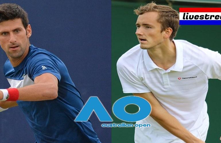 Livestream Australian Open finale Djokovic - Medvedev