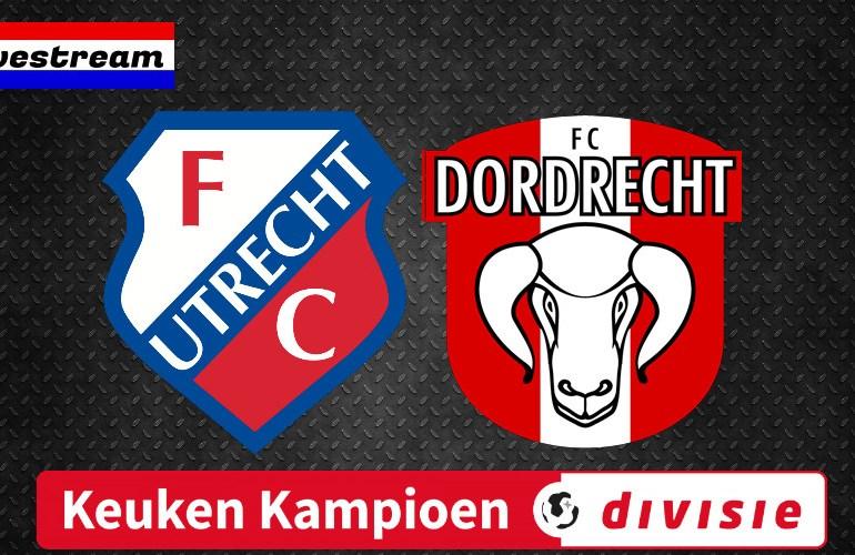 KKD livestream Jong FC Utrecht - FC Dordrecht