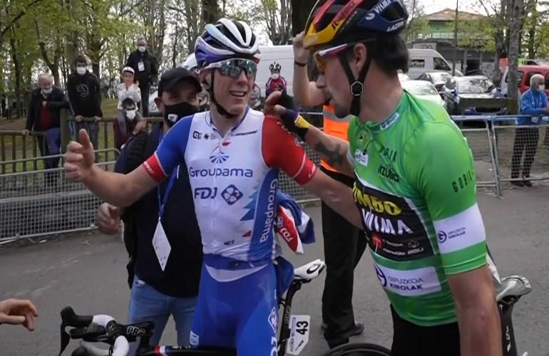 Gaudu wint etappe, Roglic eindklassement in het Baskenland