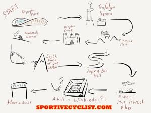 RideLondon Route Cartoon