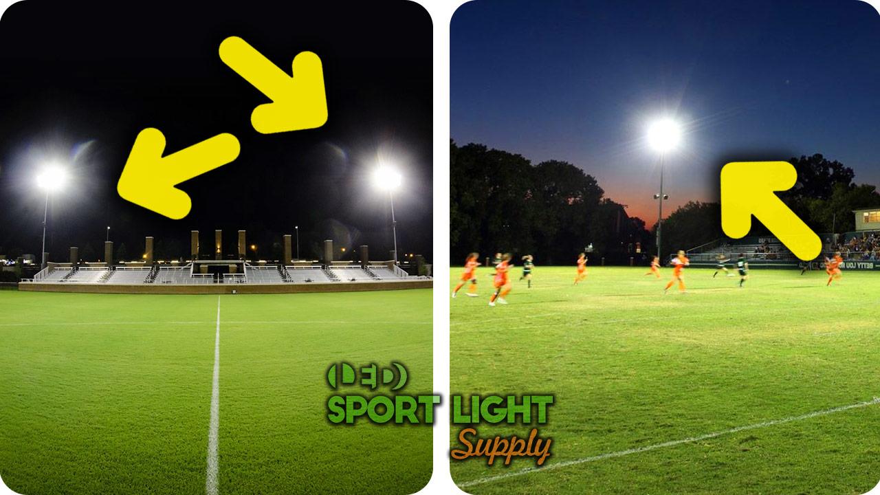 side lighting vs corner lighting of