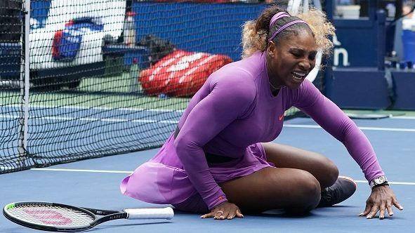 Serena Williams rolls ankle, opponent as U.S. Open challengers upset — OlympicTalk