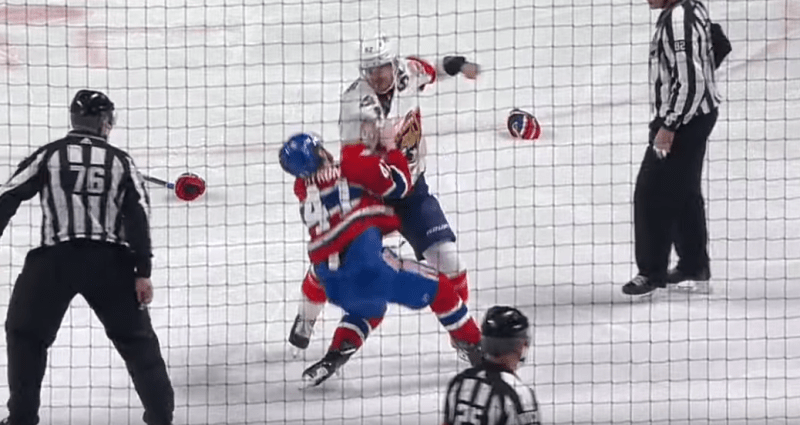 Panthers' Weegar knocks out Habs' Byron with nasty uppercut — ProHockeyTalk