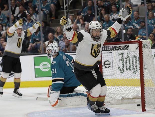 Goodrow's OT goal caps Sharks 5-4 Game 7 win vs. Vegas — National Post