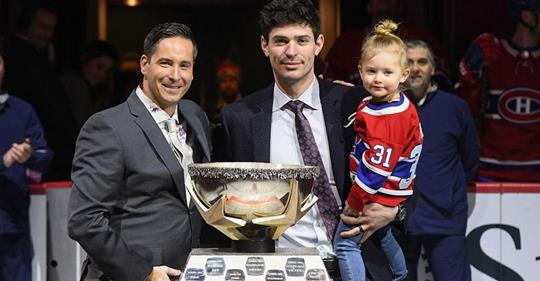 Price awarded January Molson Cupand brought his daughter with him