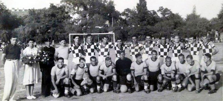 "Железничарско дерби между Русе и Печ на ""Алеите"" през 1936 г."