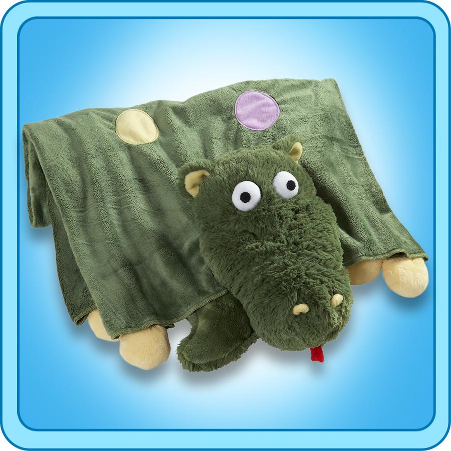 Authentic Pillow Pet Dizzy Dragon Blanket Plush Toy Gift