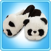 Pillow Pets Authentic Comfy Panda Slippers Toy Gift ...