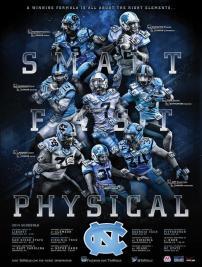 UNC Football Poster