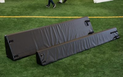 Combo 12″/22″ high Portable Boundary System – 30-panel pack (100′ x 50′ rink system)