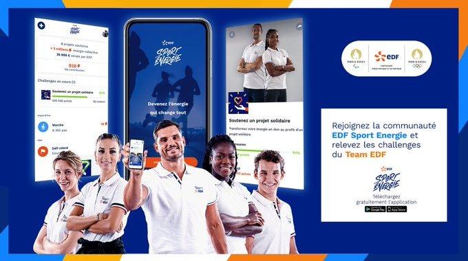 Soutenez la FFHandisport avec l'application EDF Sport Énergie