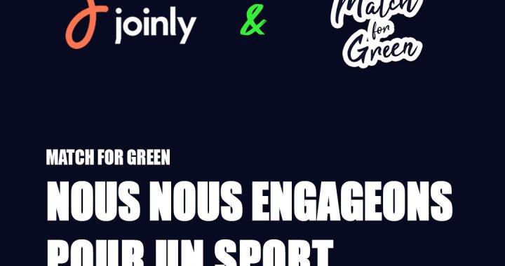 Un sport eco-responsable grâce à Joinly et Match For Green