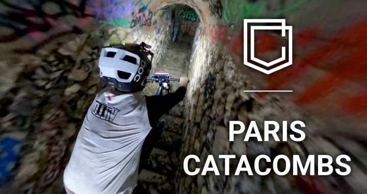 En vidéo – Session VTT folle pour Antoni Villoni dans les catacombes à Paris