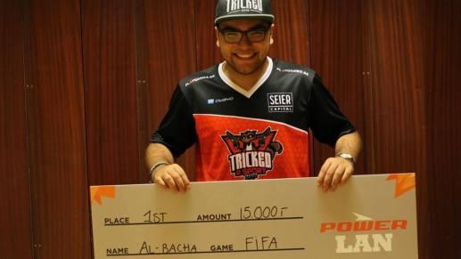 Bacha som endelig vinder af Power Lan 1v1. Rights: Tricked eSport