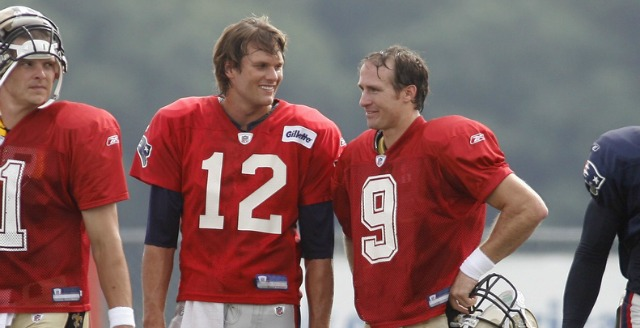 Tom Brady and Drew Brees have come together to oppose a California bill. (USATSI)
