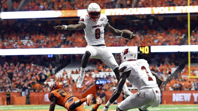 Image result for lamar jackson hurdle