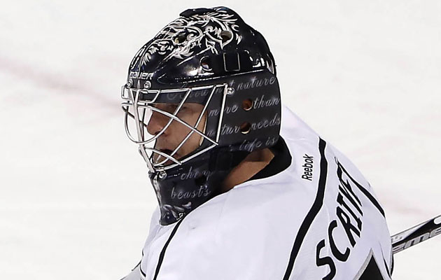 Scrivens' new mask harkens to days of yonder. (USATSI)