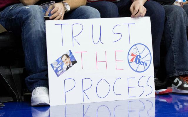 Resultado de imagen de trust the process sixers