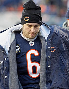 Jay Cutler took more hits after the game than during it. (AP)