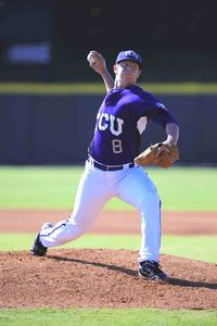 Kyle Winkler allowed only 2 hits over 8 innings as TCU cruised past Oregon State. (ESPN Photo)
