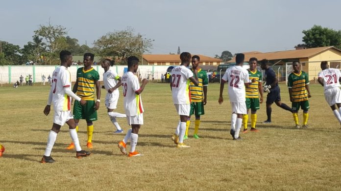 Striker Prince Okraku for the second on the spin came off the bench to score for Eleven Wonders and helped them to a 2-0 win against Ebusua Dwarfs