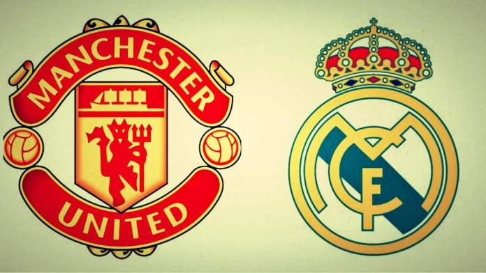 Manchester United and Real Madrid
