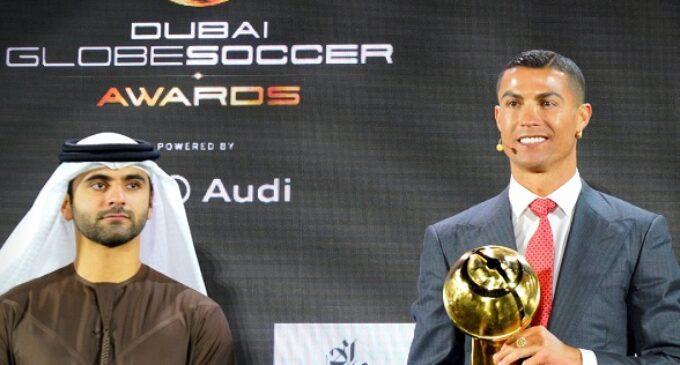 Cristiano Ronaldo named Player of Century at Globe Soccer Awards