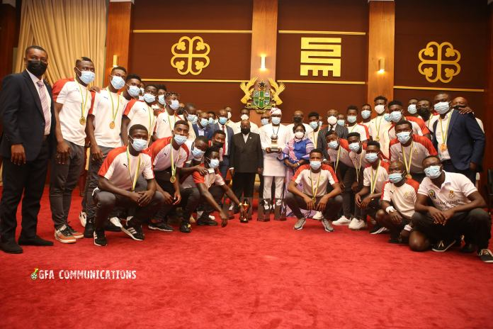 Black Satellites team with President Nana Addo and government officials