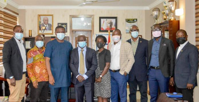 Sports Minister Mustapha Ussif meets SWAG leadership