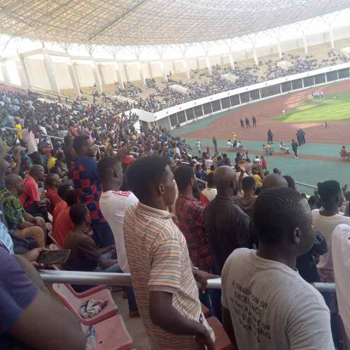 RTU fans at the Aliu Mahama Sports Stadium during their game against Bofoakwa