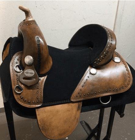 Equestrian horse saddle rider barrel custom